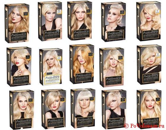 блонд палитра