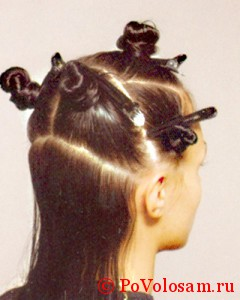 разделение волос