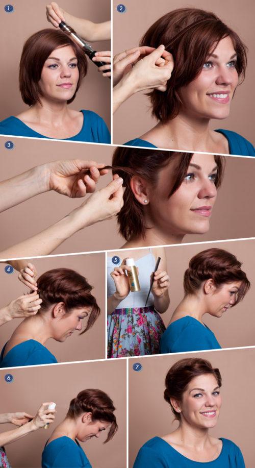 греческая укладка на короткие волосы
