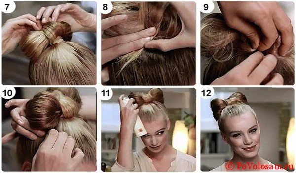 Как правильно делать бант из волос?