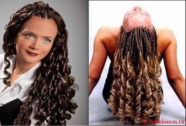 Африканские косы на женщинах