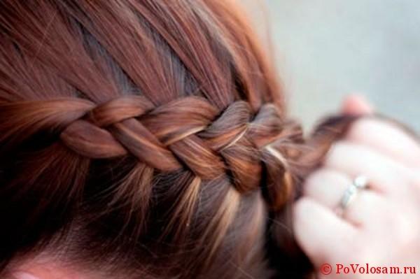 Плетение французской косы наоборот