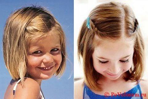 Детский водопад на короткие волосы