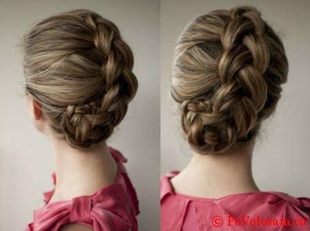 Французское плетение на короткие волосы
