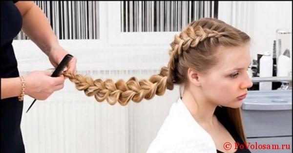 Мастерство плетения косы наизнанку