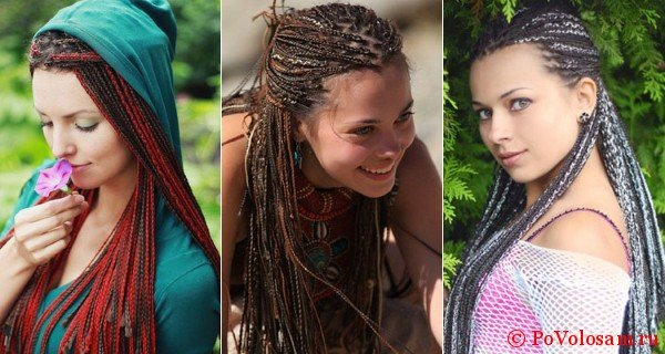 Разнообразие афрокосичек