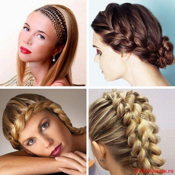 Разновидности плетения на средние волосы
