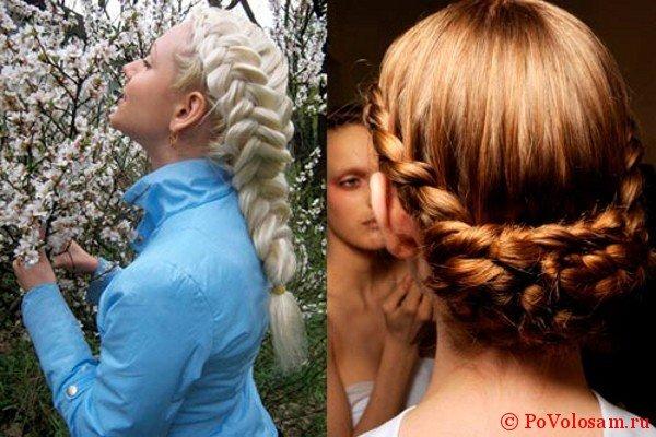 Красивые французские косы наизнанку