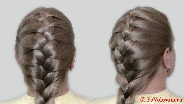 Разновидности кос на средние волосы