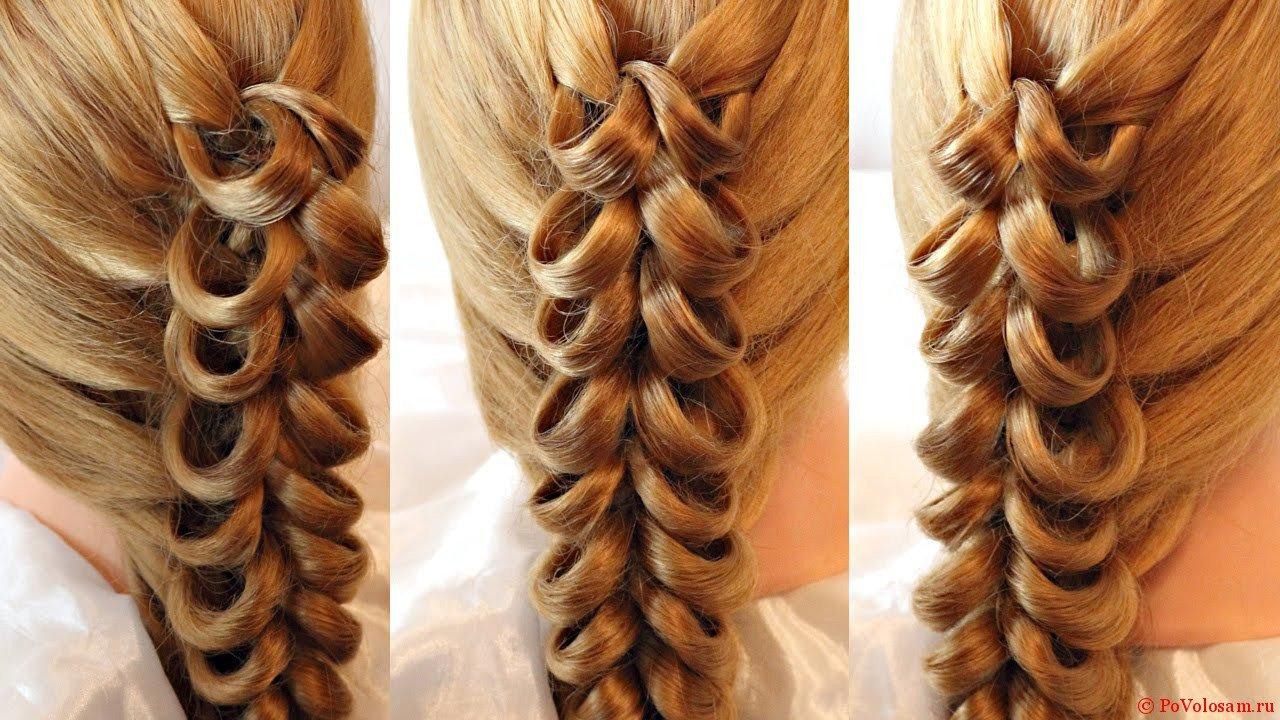 Плетение кос на карандаш