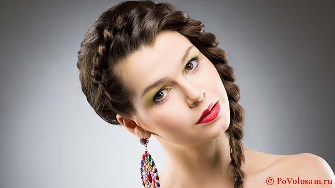 Красивые косы на волосах
