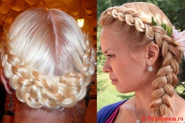Праздничная французская коса наоборот
