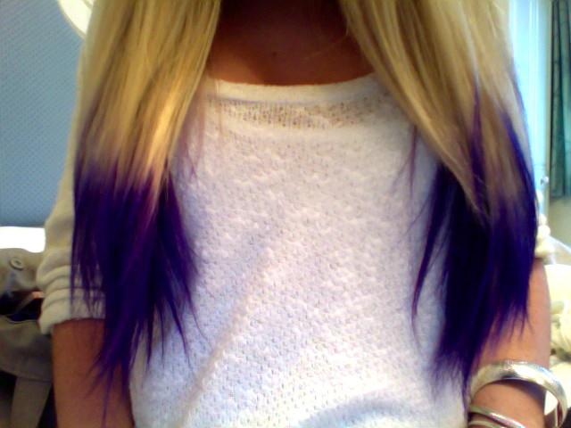 фиолетовые концы
