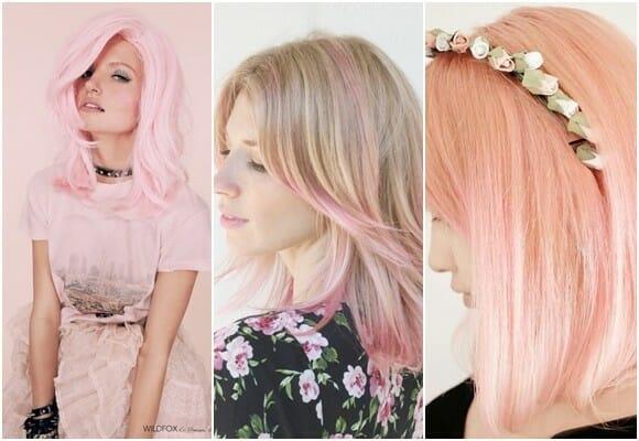 нежные оттенки розового цвета