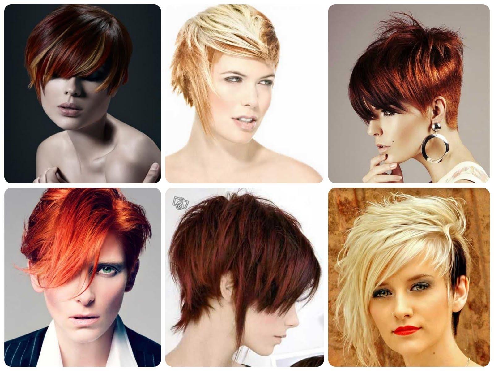 Окраска коротких волос в два цвета