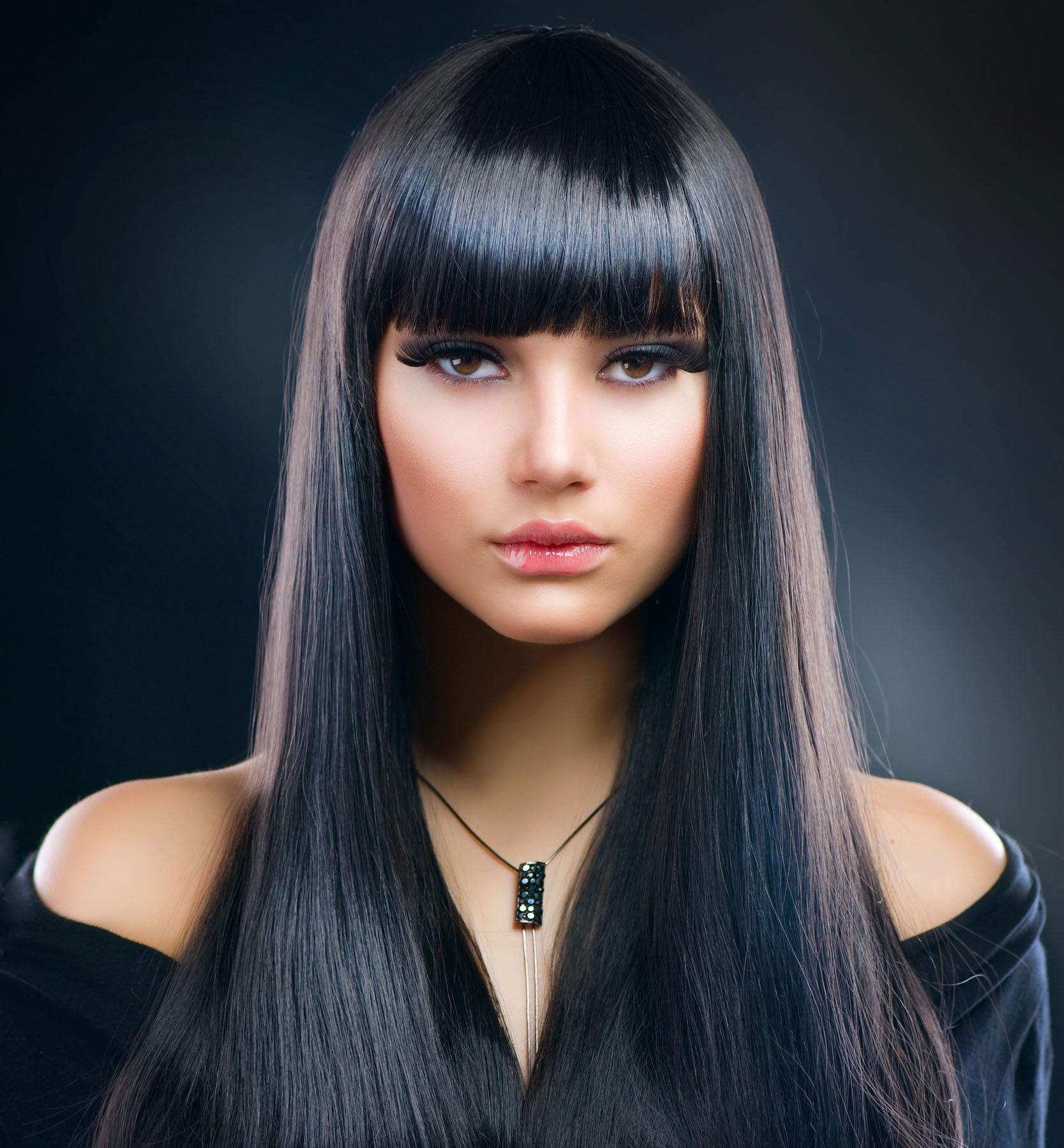 Фото причесок с длинными прямыми волосами