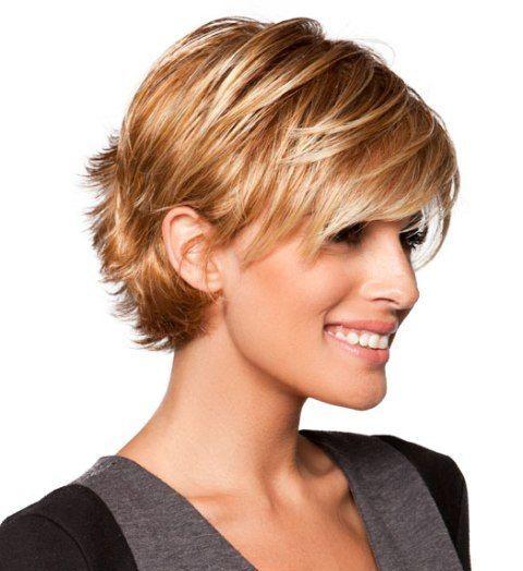 Модная короткая стрижка для тонких волос