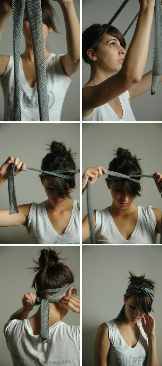 Как сделать оформление головы с повязкой, инструкция