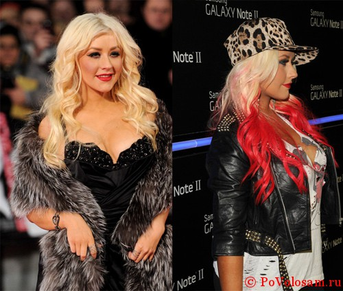 Christina Aguilera  до и после