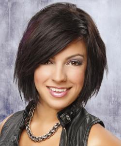 стрижки на средние волосы с челкой женские фото