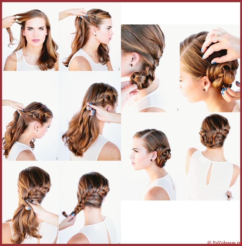 Колоски пошагово на длинные волосы фото