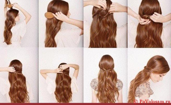 Как поднять волосы на затылке