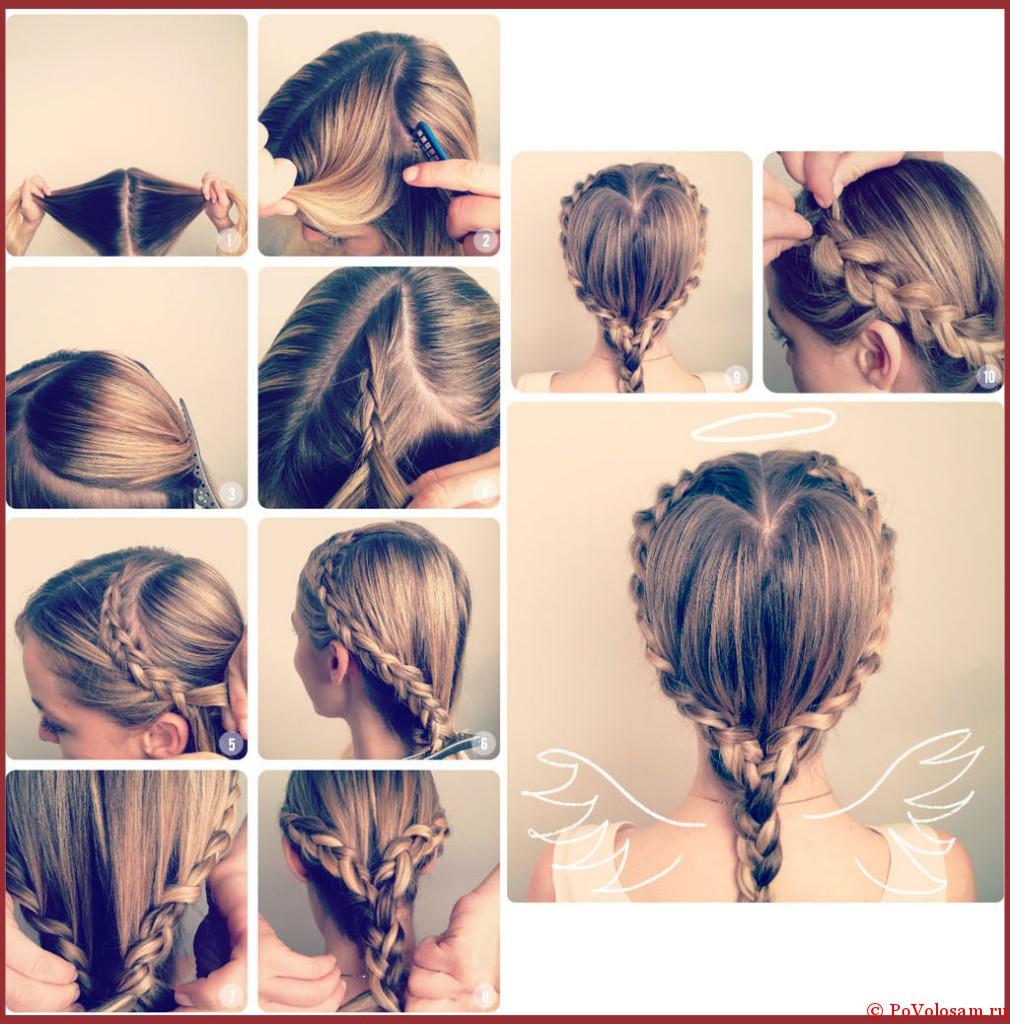 Причёски с плетением пошагово