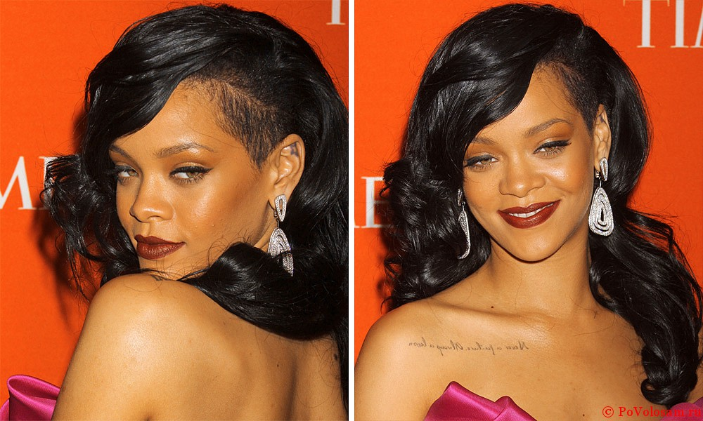 Rihanna асимметричная с выбритым виском