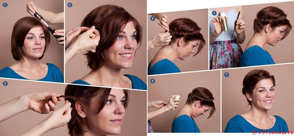 Как сделать укладку короткие и тонкие волосы