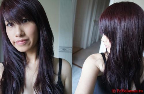 Иссиня черный цвет волос