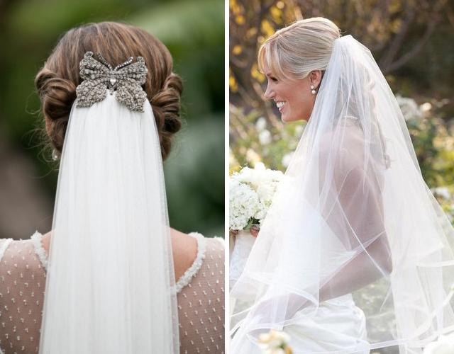 Прически на свадьбу под фатой