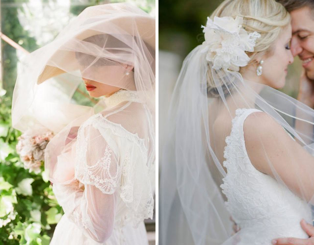 Свадебная укладка с длинной вуалью