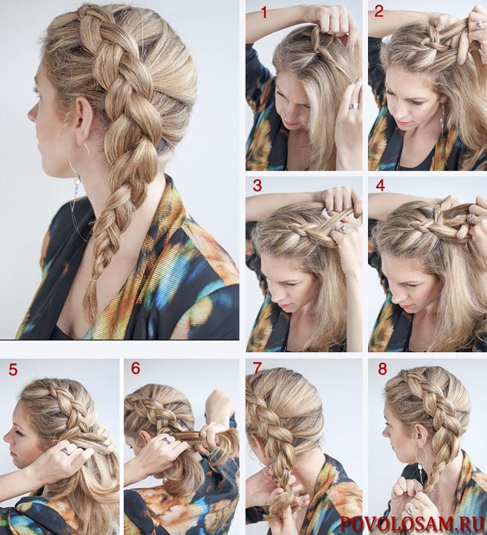 Голландская коса наоборот