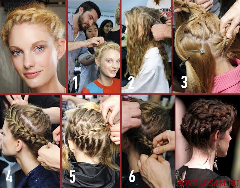 Греческая прическа косы