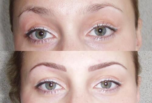 Татуаж бровей волосковый метод фото