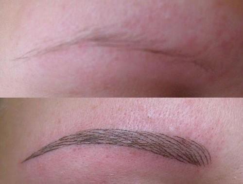 татуаж бровей фото волосковый метод