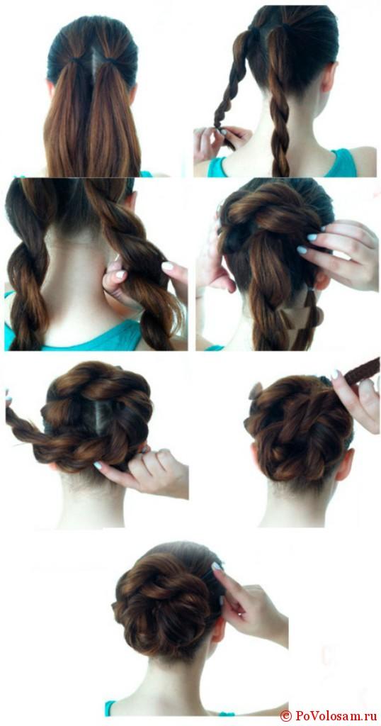 Прически на длинные волосы своими руками с пошагово