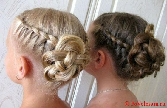 прически с косами для детей на выпускной видео