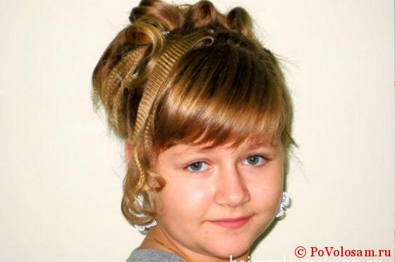 Причёски на выпускной 4 класс в домашних условиях