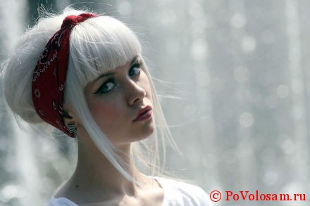 белый цвет волос окрашивание