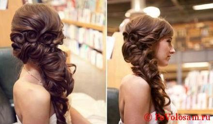 коса с декором