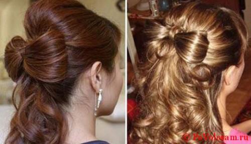 бантик на волосах