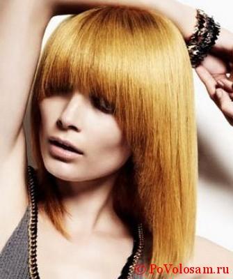 длинный сессун на прямых волосах