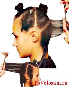 состригание волос