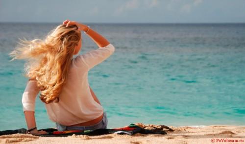 прическа с пляжа
