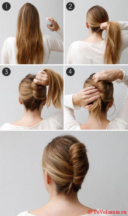 Плетение кос самой себе для начинающих фото пошагово