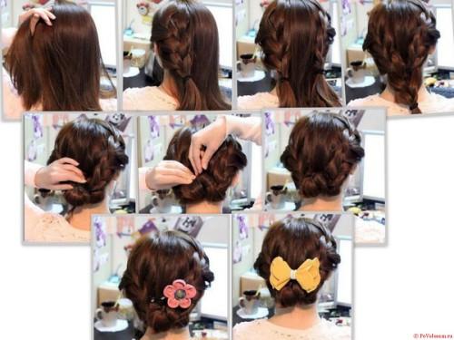 Какую причёску сделать на средние волосы самой себе