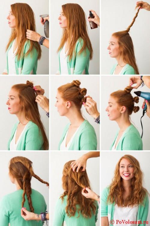 Как сделать кудрявые волосы плойкой