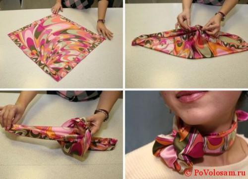 обычный женский шейный шарф