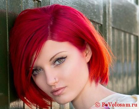 красный цвет локонов